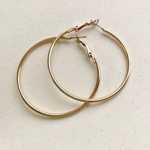 Jewelry - Gold hoop earrings, pre-owned